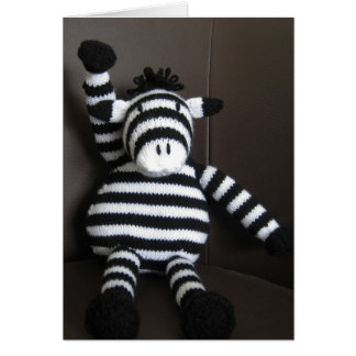 Knitted zebra card