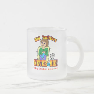 Knitter Frosted Glass Coffee Mug