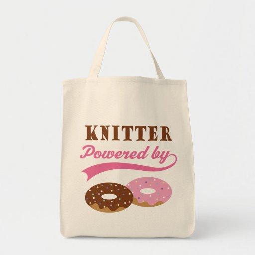 Knitter Funny Gift Canvas Bag