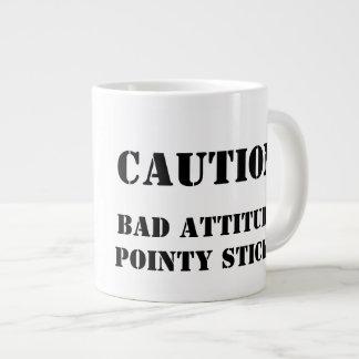 Knitter with an attitude jumbo mug