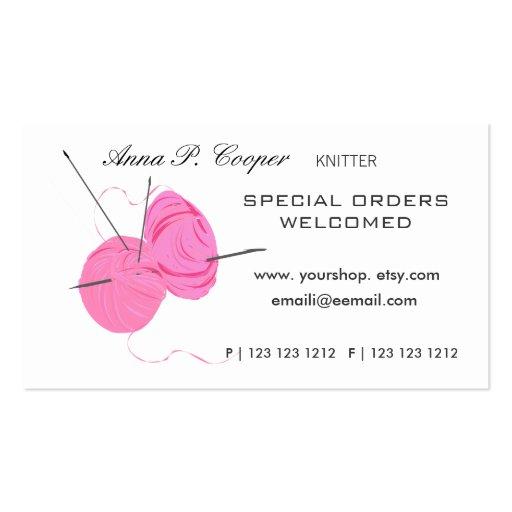 Knitter Yarn'n Needles Business Cards