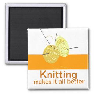 Knitter Yarn'n Needles Refrigerator Magnets
