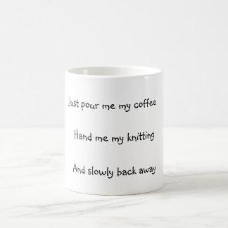Knitter's Basic White Mug