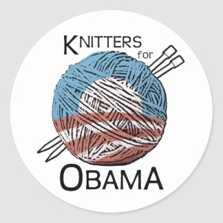 Knitters for Obama Stickers #1