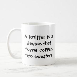 Knitter's funny coffee mug