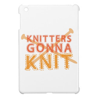 Knitters gonna knit (with knitting needles) case for the iPad mini
