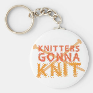 Knitters gonna knit (with knitting needles) keychains