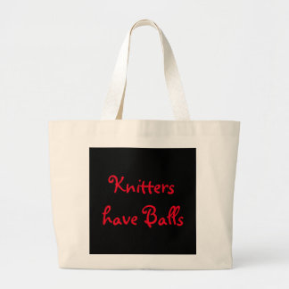 Knitters have Balls Jumbo Tote Bag
