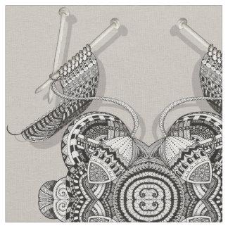 Knitters Paradise Doodle Art Fabric