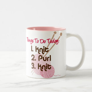 Knitters To Do List Mug