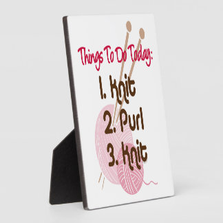 Knitters To Do List Plaque