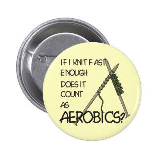 Knitting Aerobics Button