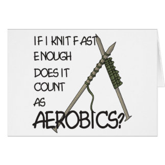 Knitting Aerobics Card