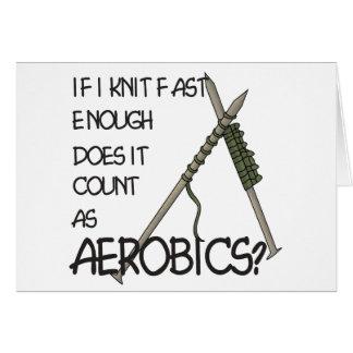Knitting Aerobics Cards