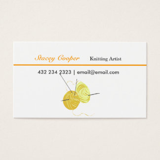 Knitting  Artist Spun Yarn Business Card