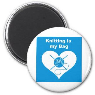 Knitting Bag Magnet
