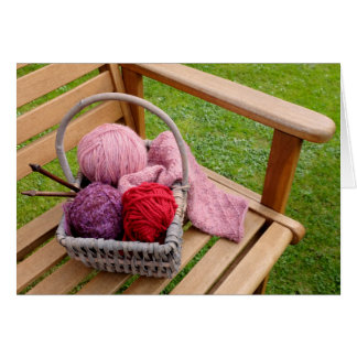 Knitting basket card