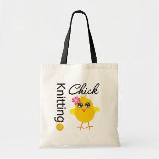 Knitting Chick Budget Tote Bag