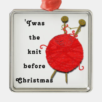 knitting Christmas Christmas Ornament