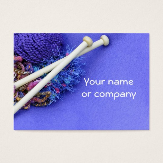 Knitting, crocheting & fibre arts! business card