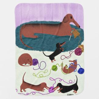 Knitting Dachshund Baby Blanket