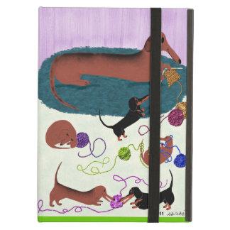 Knitting Dachshund iPad Air Cover