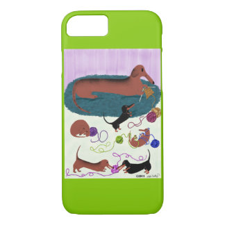 Knitting Dachshund iPhone 8/7 Case