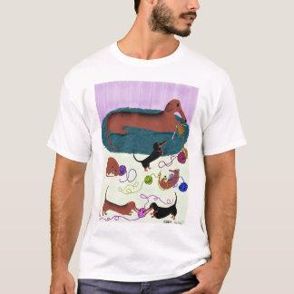 Knitting Dachshund Shirt