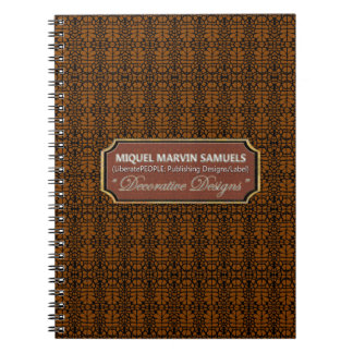 knitting Decorative Black Brown Modern Notebook