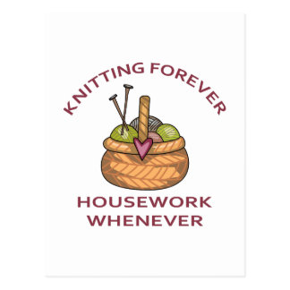 KNITTING FOREVER POSTCARD
