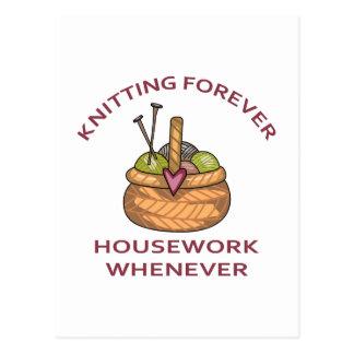 KNITTING FOREVER POSTCARD