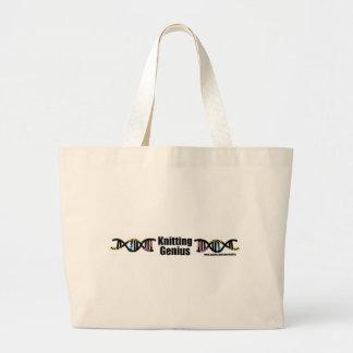 Knitting Genius Large Tote Bag