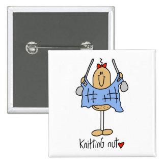 Knitting Gift 15 Cm Square Badge