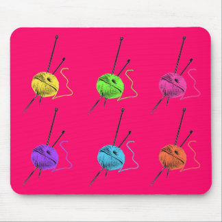 Knitting Goes POP Mouse Mat