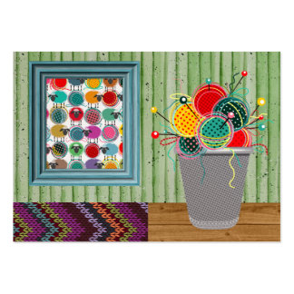 """Knitting """"Handmade By"""" - SRF Large Business Cards (Pack Of 100)"""