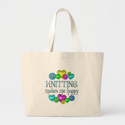 Knitting Happiness Canvas Bag