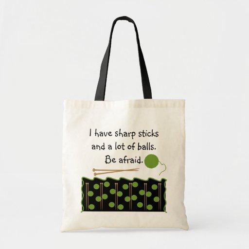 Knitting Humor Bag