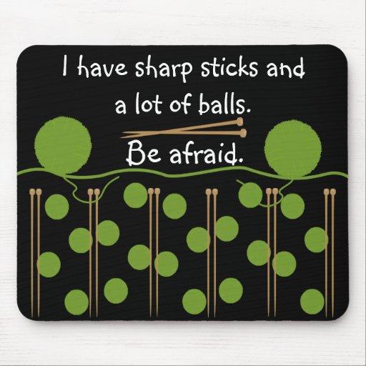 Knitting Humor Design Mouse Pad