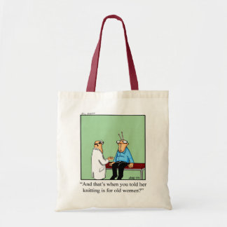 Knitting Humor Tote Bag Gift