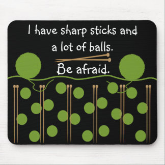 Knitting Humour Design Mouse Pad