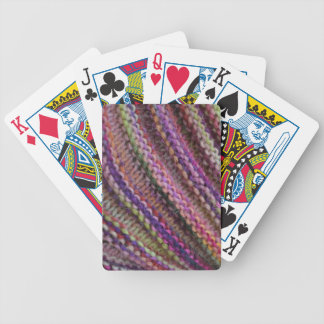 Knitting in Sunset Colours Bicycle Playing Cards