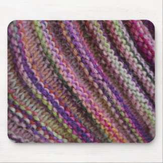 Knitting in Sunset Colours Mouse Pad