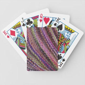 Knitting in Sunset Colours Poker Cards