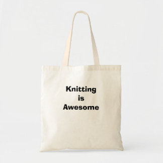 Knitting is Awesome Budget Tote Bag