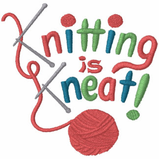 Knitting is Kneat Embroidered Hoodies