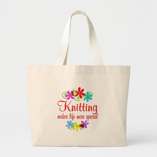 Knitting is Special Large Tote Bag