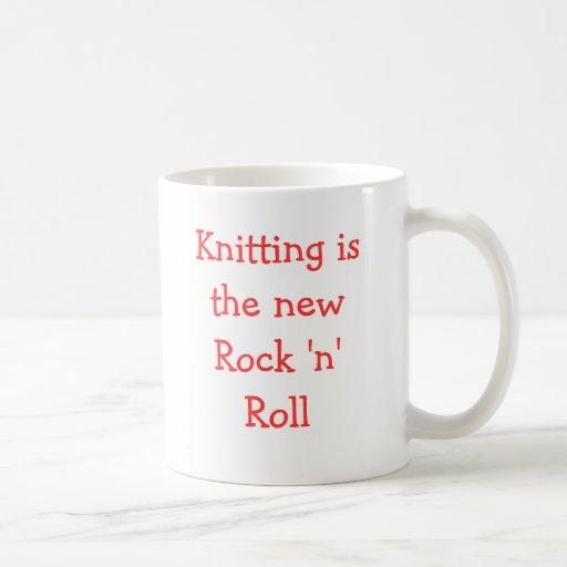 Knitting is the new Rock 'n' Roll Coffee Mugs