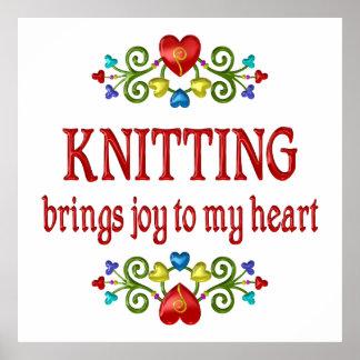 Knitting Joy Posters