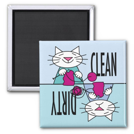 Knitting Kitties Dishwasher magnet