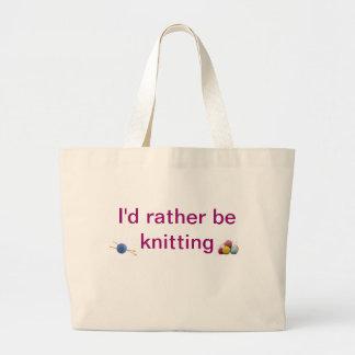 knitting large tote bag